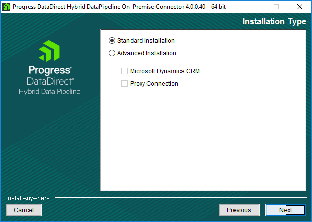 On-premises Connector Installation Type