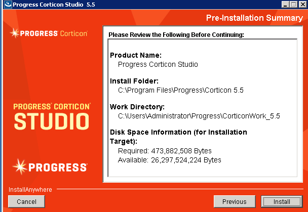 install-corticon-studio