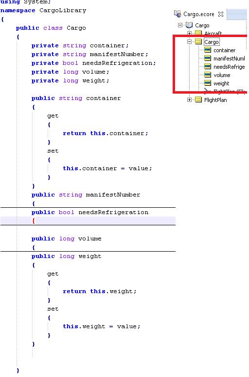 NET-Business-Object-class-Cargo