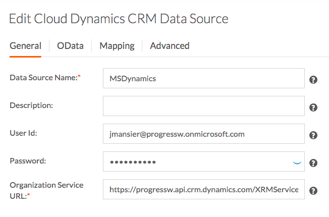 Edit CRM Data Source