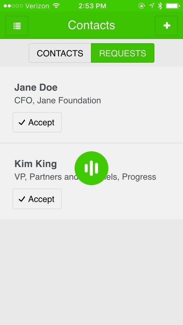 ProgressNEXT 2016 App - Contact Building