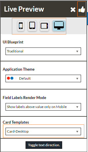 Device Selection and Save