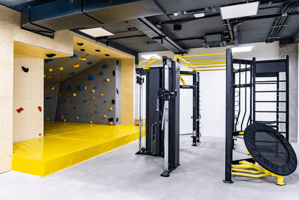 Gym with Climbing Wall