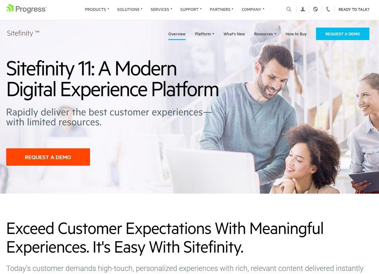 Progress Sitefinity Homepage