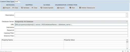Configure the Datasource Access - Progress Corticon