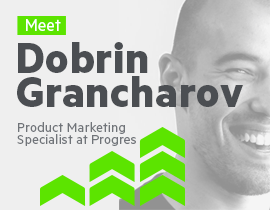 Meet Dobrin Grancharov, Product Marketing Specialist at Progress-2_270x210