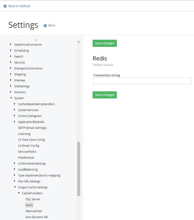 Cache Provider Configuration