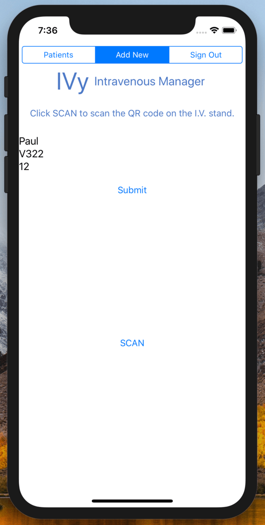 Screenshot iOS