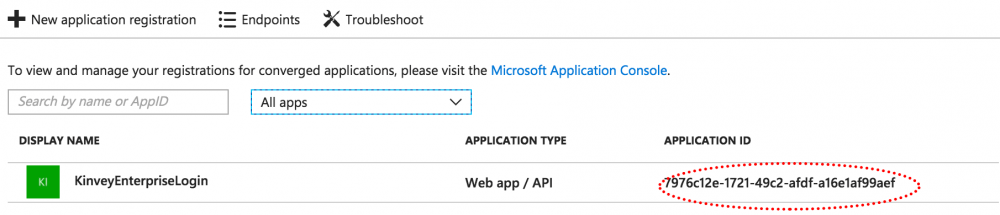 applicationID