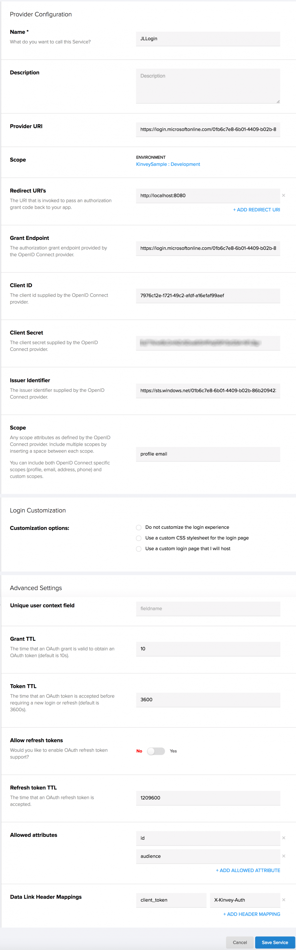 auth-service-settings