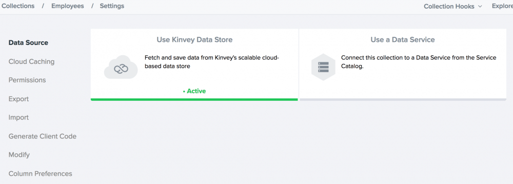 kinvey-data-store