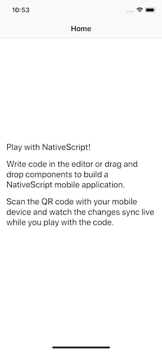 iOS NativeScript Playground