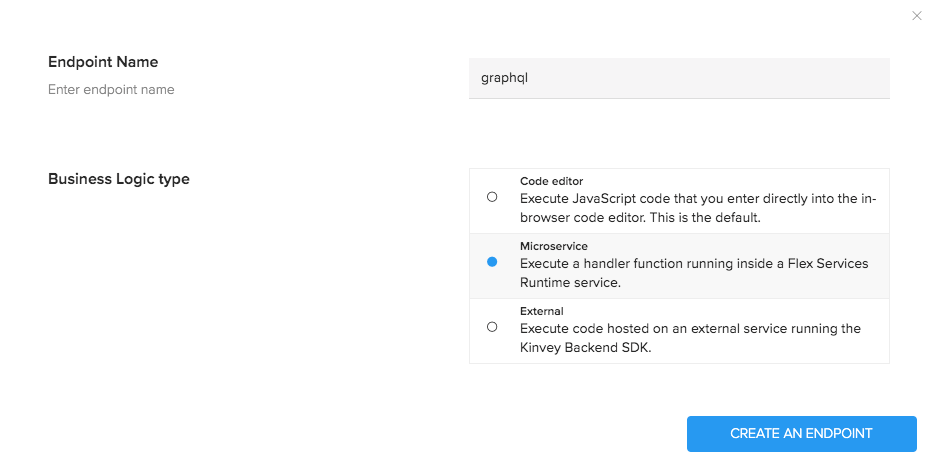 Kinvey Custom Endpoint Name