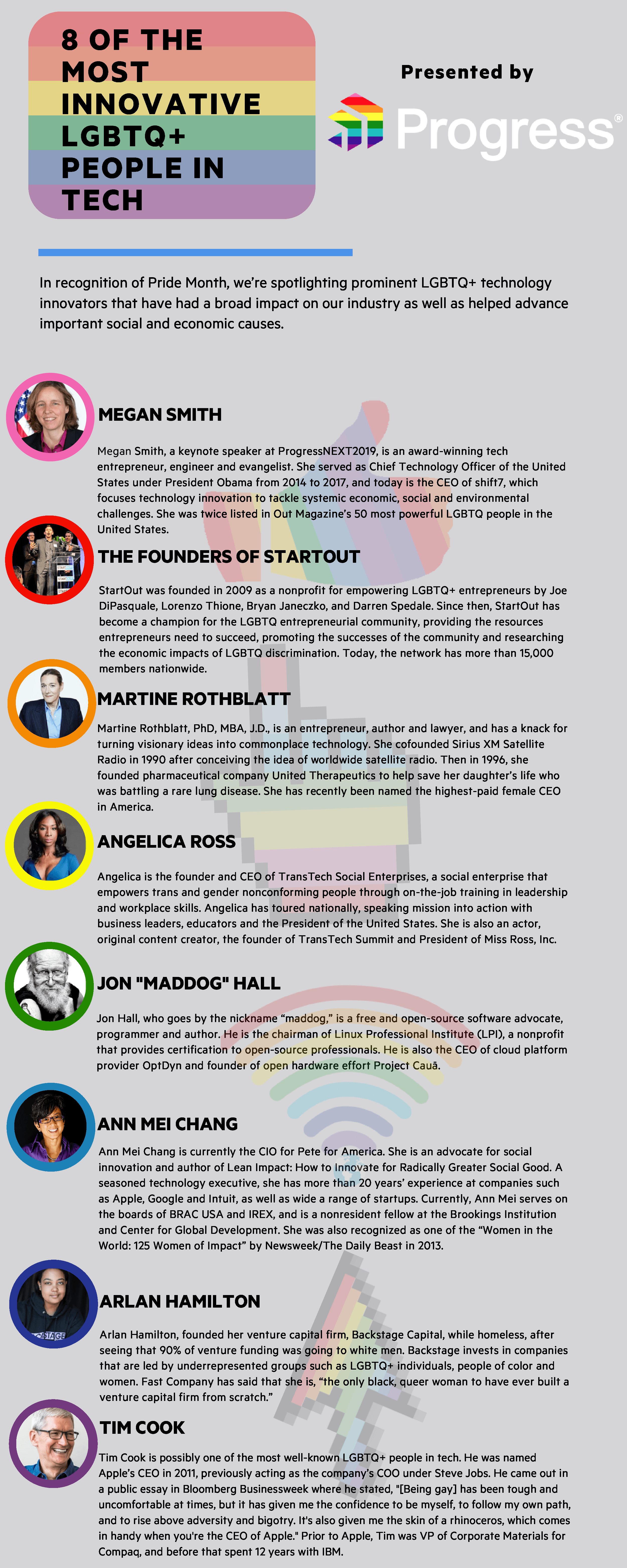 8 of the Most Innovative LGBTQ+ People in Tech Infographic