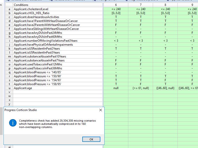 Corticon Studio Rule Integrity Completeness Checker