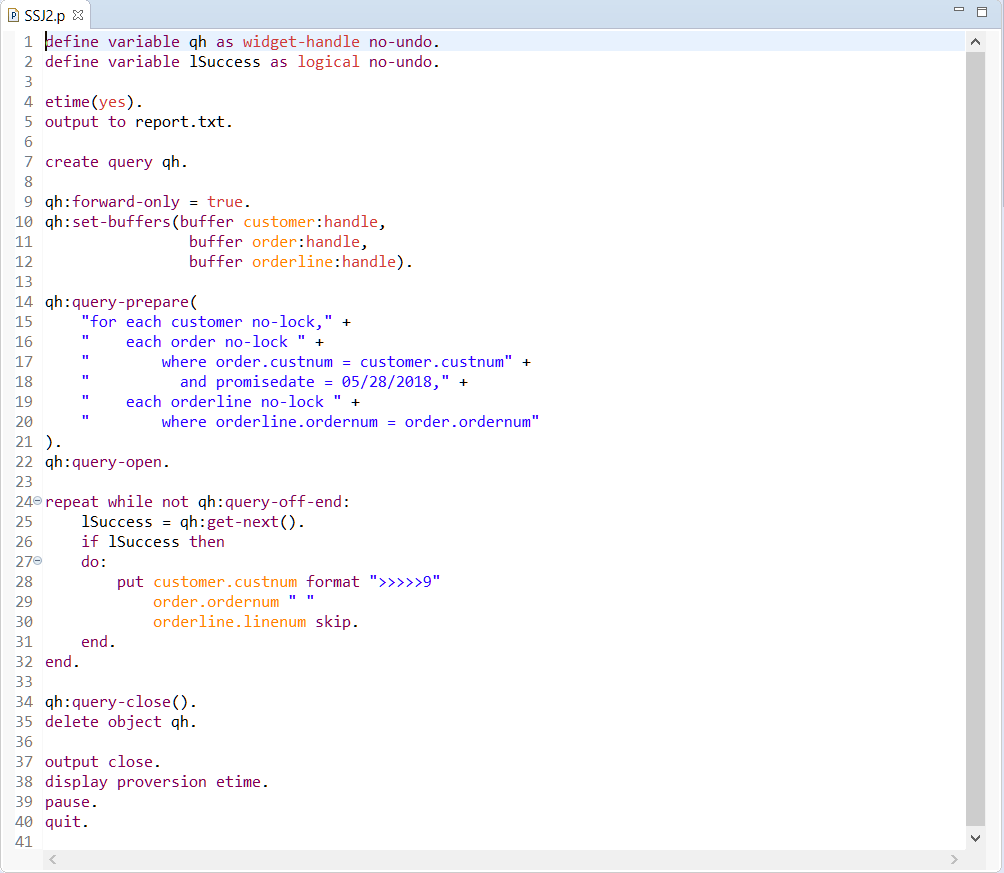 Sample Code Using FORWARD-ONLY Dynamic Queries