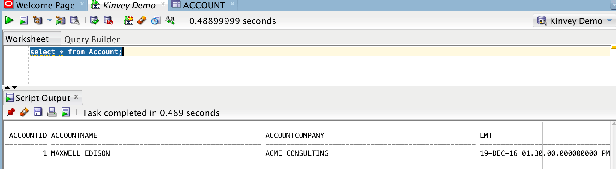 Query Database from Oracle Directly