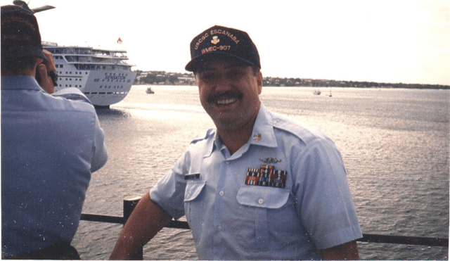 Mark Schafron of Progress during his Coast Guard days