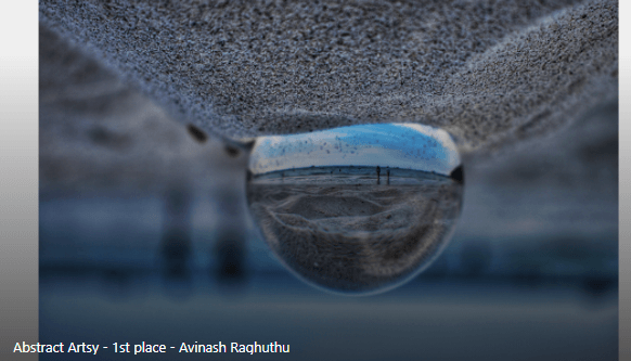 Abstract/Artsy Category Winner: Droplet by Avinash Raghuthu