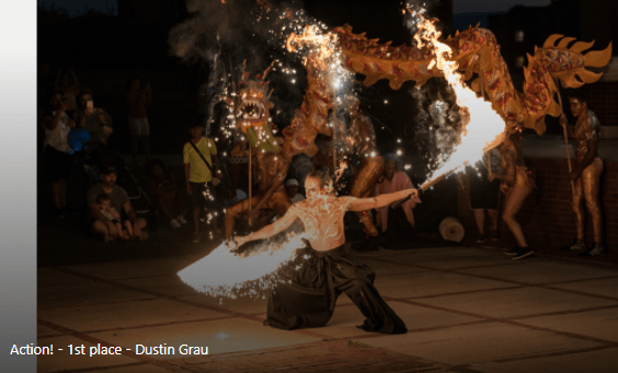 Action Category Winner: Flaming Swords by Dustin Grau
