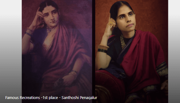 Famous Re-creations Winner: Lady Lost in Thought Re-creation by Santhoshi Penagalur