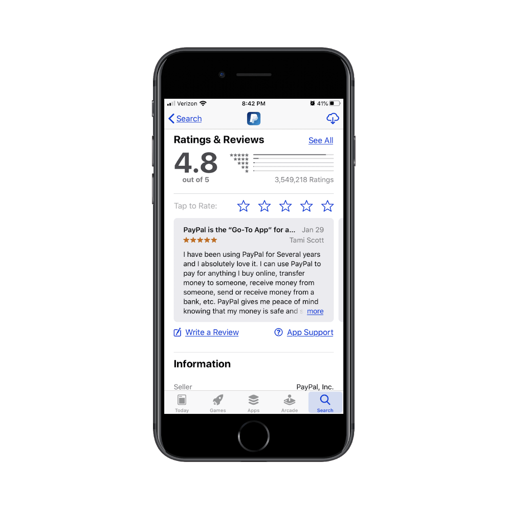 PayPal mobile cash app user review