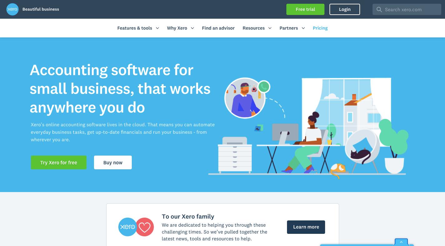 Xero accounting software website