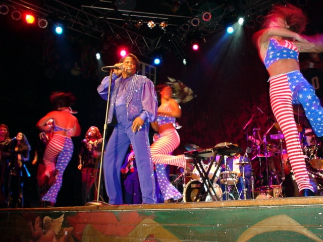 James Brown performs at the House of Blues in Orlando