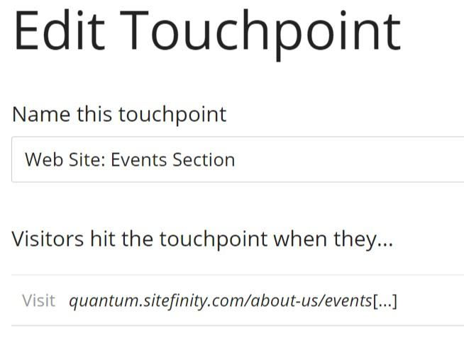 edit touchpoint