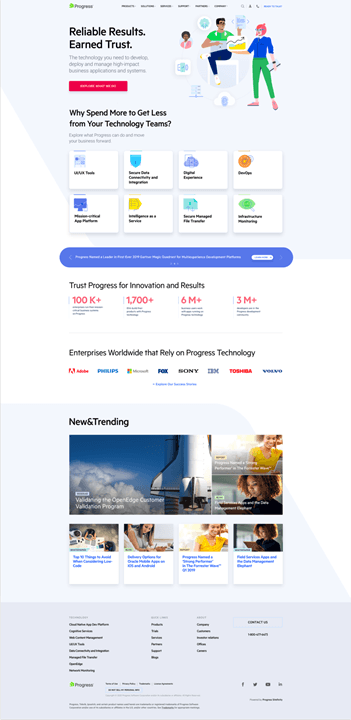 Progress Homepage Variation