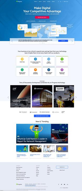 Progress Current Webpage