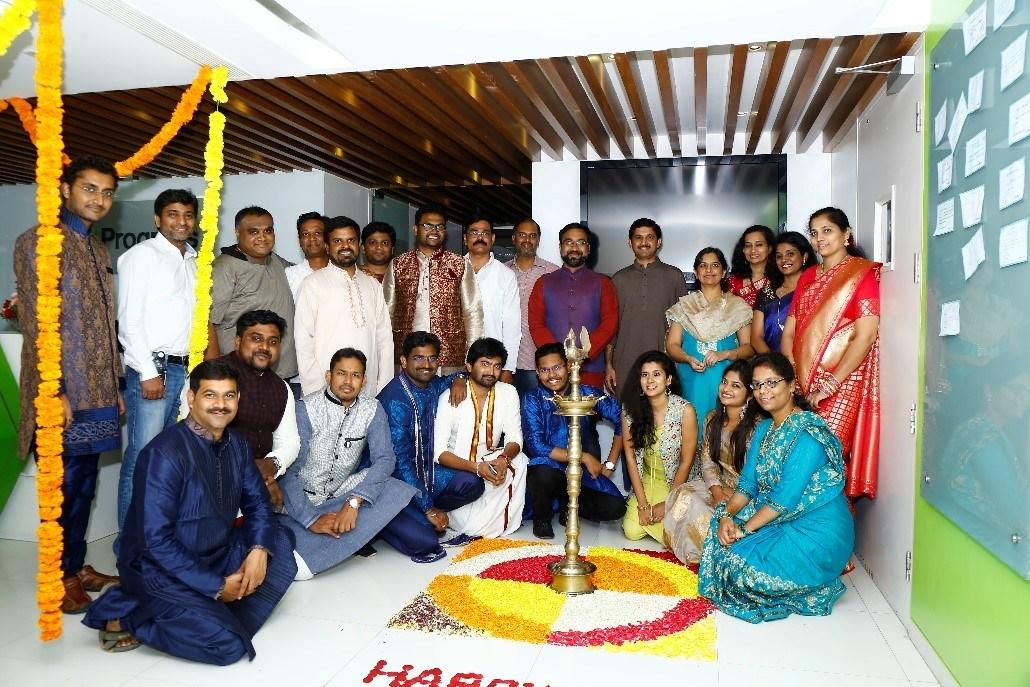 Employees celebrating Diwali