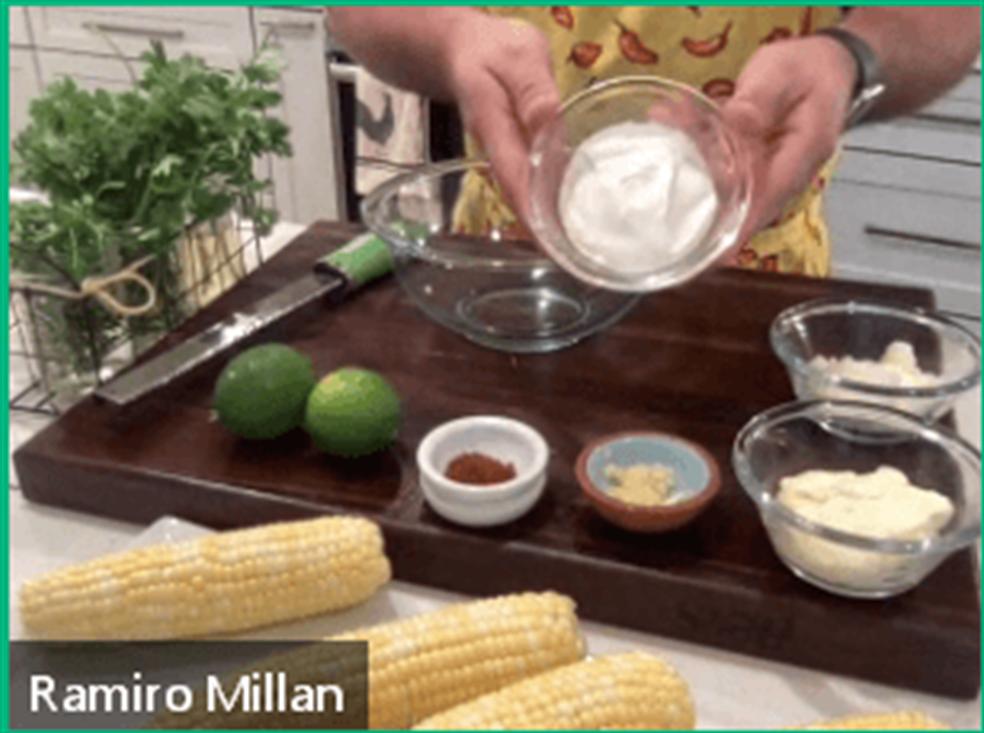 Hispanic heritage month street corn ingredients