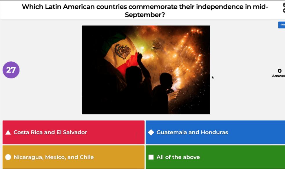 Hispanic Heritage month trivia question