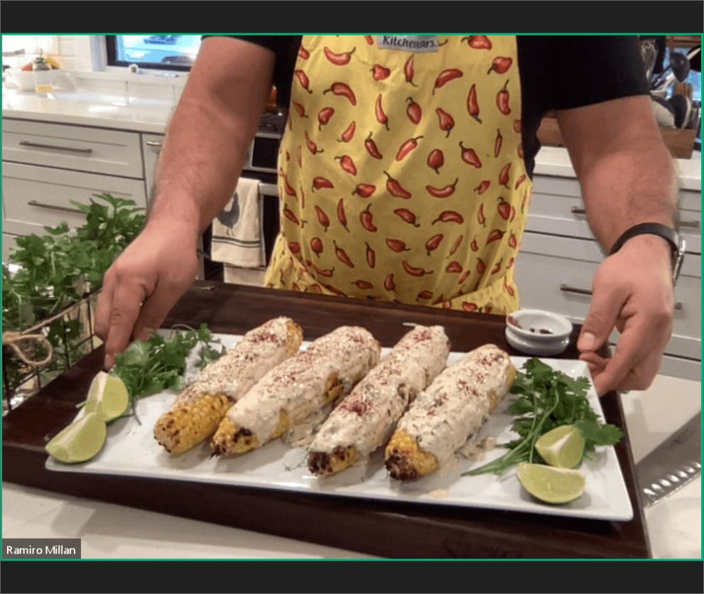 hispanic heritage street corn finished product