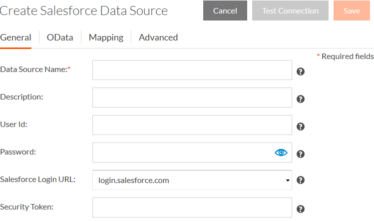 Create a Salesforce Data Source
