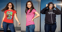 Modeling t-shirts and more at DataDirect Fashionforce 2015