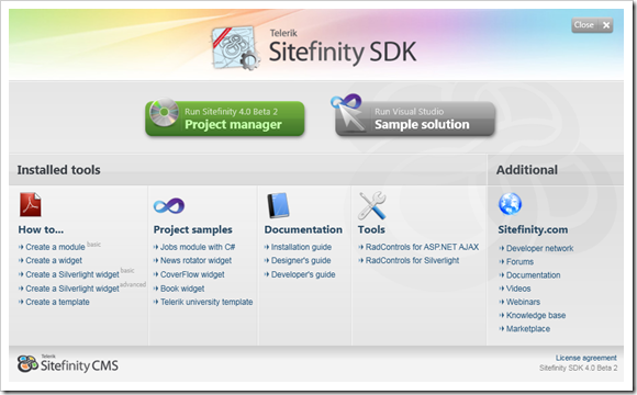 Telerik Sitefinity SDK