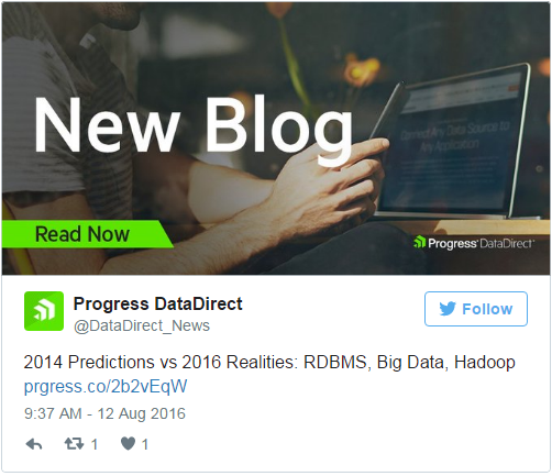 2014 Predictions vs 2016 Realities- RDBMS, Big Data, Hadoop