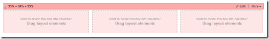 A drag & drop 3-column layout in Sitefinity 4.0