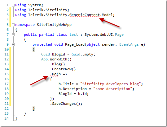 The type or namespace name 'GenericContent'  does not exist in the namespace 'Telerik.Sitefinity' (are you missing an assembly reference?).