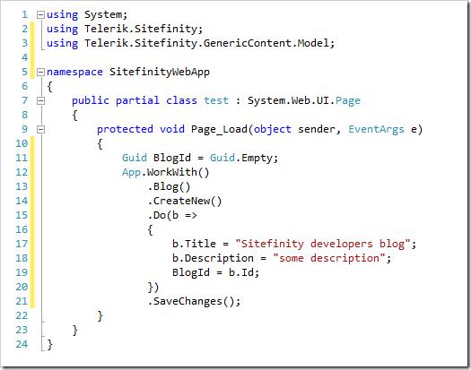 Working code!