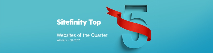 Top 5 Website of the Quarter Awards