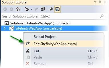 Edit Project File