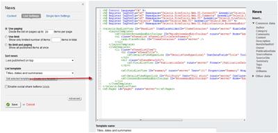 Editing Sitefinity Widget Templates