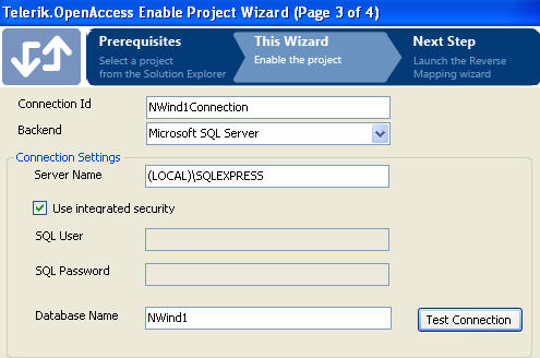 Enable Project Wizard