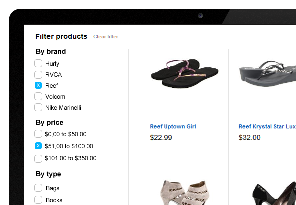 Faceted Search Filters and Sorting options for Sitefinity Ecommerce
