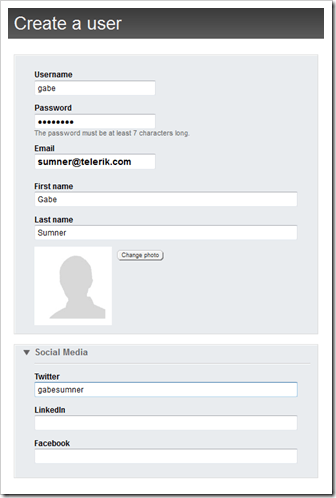 Creating custom profile information in Sitefinity 4.1