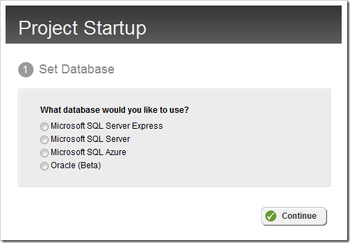 New database options available in Sitefinity 4.1 (Azure & Oracle)