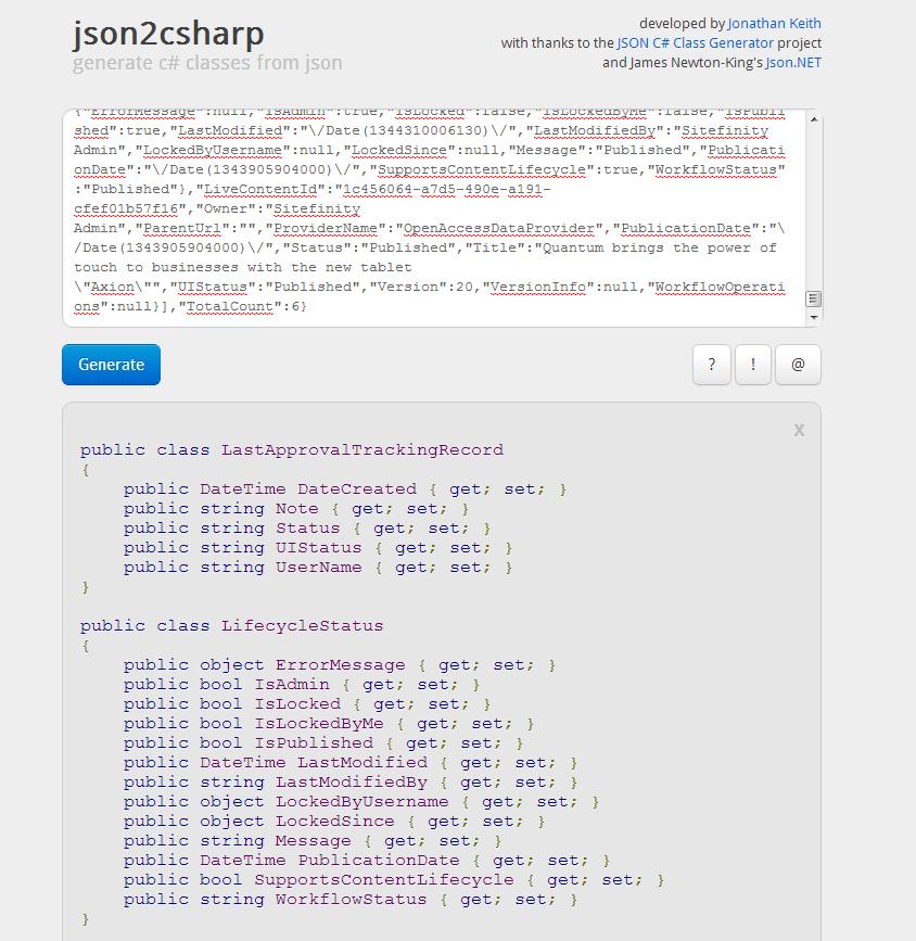 Json 2 Charp Screenshot